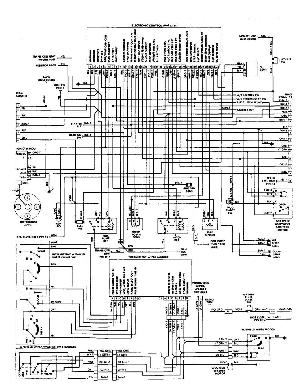 fuel injection system - tbi :: 1984 - 1991 :: jeep ... 1991 jeep comanche wiring diagram 1991 jeep comanche tail light wiring diagram