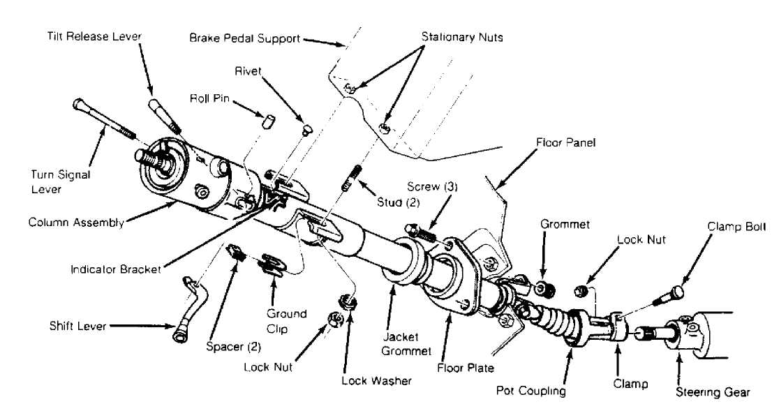 Steering Column Shaft Pot Coupling 188521 on 1987 chevy steering column diagram