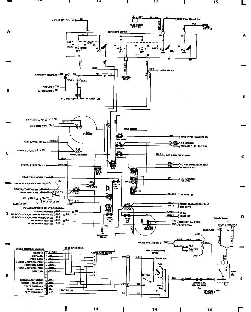 91 jeep cherokee engine diagram