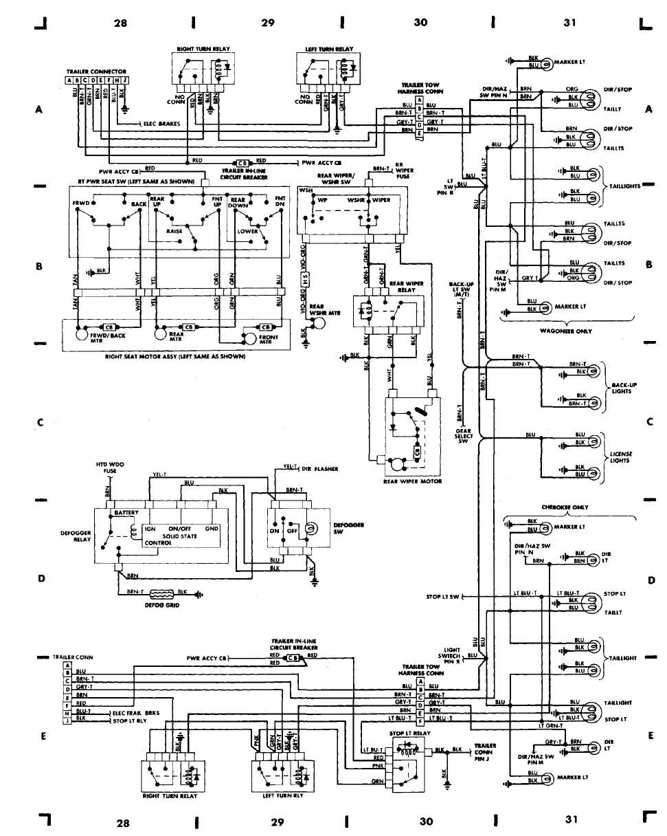 Index on 1998 Jeep Wrangler Brake Lights Wiring Diagram