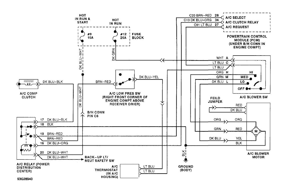 1999 jeep cherokee a c clutch wiring diagram 2007 kia sportage a c compressor wiring diagram a/c-heater system - manual :: 1993 :: jeep cherokee (xj ...
