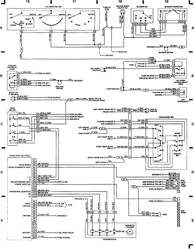 2000 jeep starter wiring diagram wiring diagrams 1993 jeep xj jeep